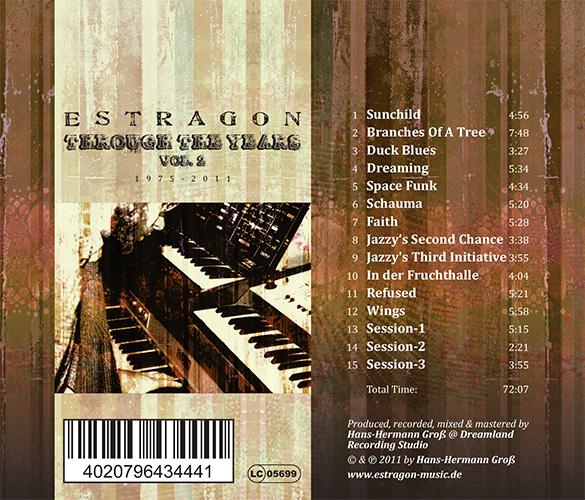 Booklet CD Estragon - Through the years - Vol 2